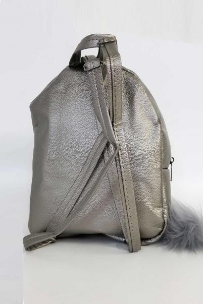 Sırt Çantası Gümüş Pullu Mini Çanta