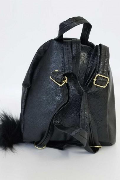 Siyah Pullu Mini Sırt Çantası