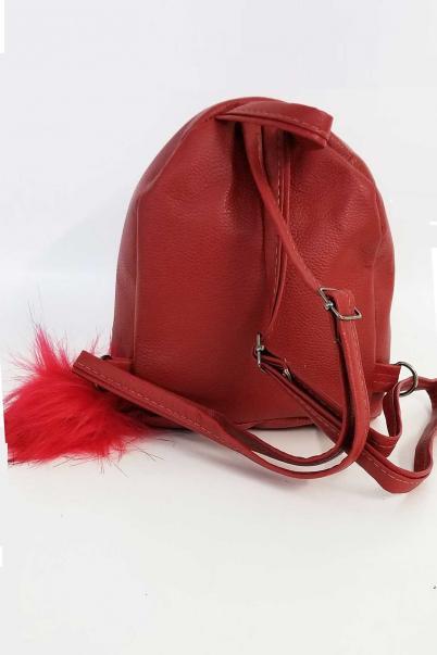 Kırmızı Pullu Sırt Çantası