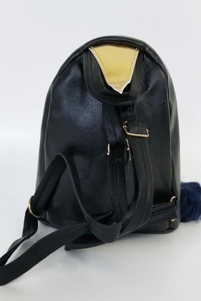 Kadın Sırt Çantası Siyah Pullu