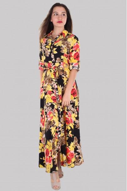 Elbise Çiçek Baskılı