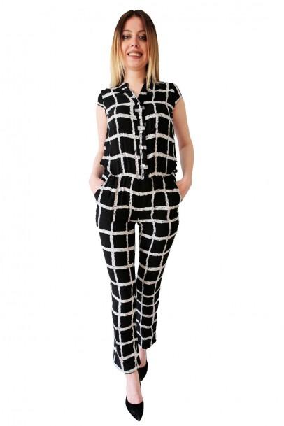 Tulum Elbise Siyah Beyaz