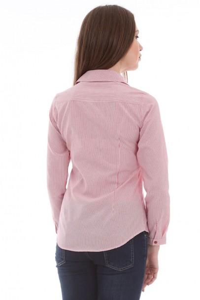 Bayan Gömlek Çizgili Nakış Detaylı