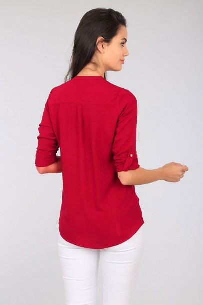 Bayan Kırmızı Spor Gömlek
