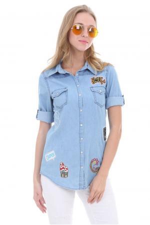 Bayan Kot Gömlek Açık Mavi