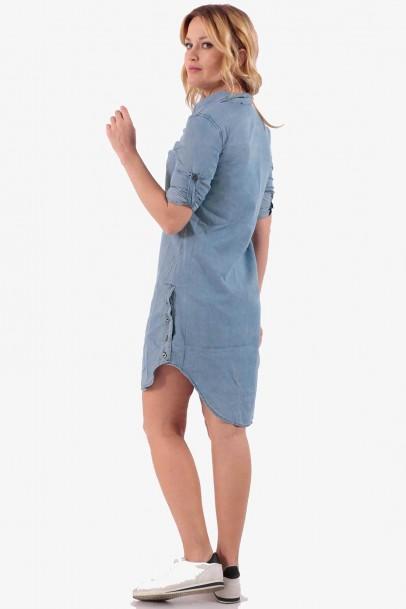 Kadın Mavi Jean Kot Tunik