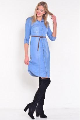 Mavi Kot Kadın Tunik