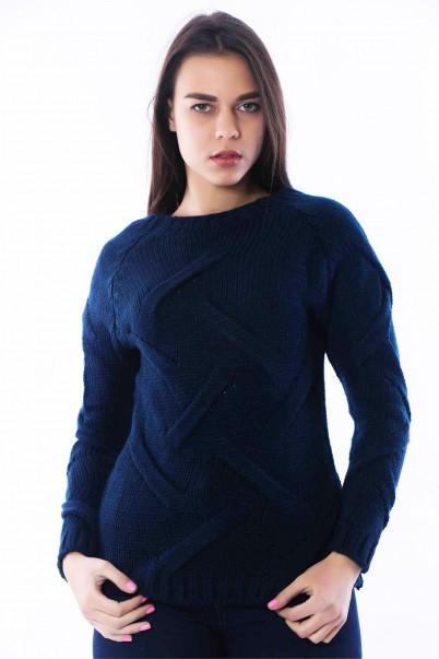 Bayan Triko Kazak Lacivert
