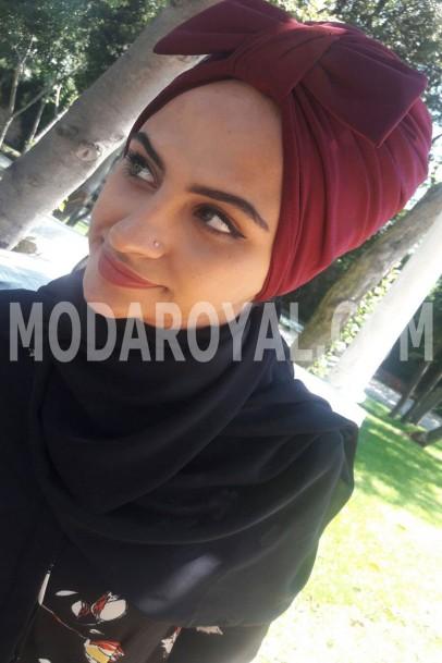 Bayan Tesettür Şal Bordo