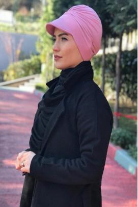 Bayan Şapka Bone Tokalı Pudra
