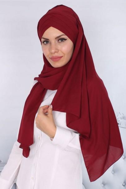 Bayan Şal Nevrulu Bordo