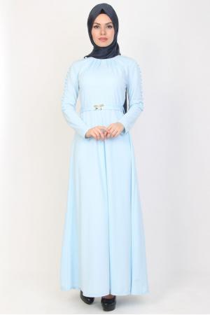 Elbise Mavi Düğmeli