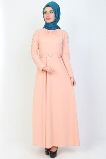 Elbise pudra Düğmeli