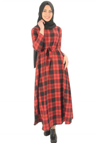 Kuşaklı kaşmir elbise