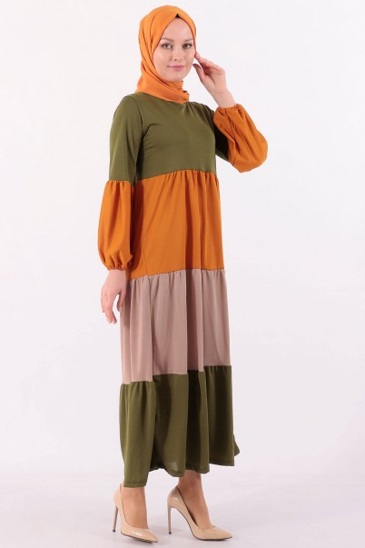 Robadan Elbise 3 Renk Haki