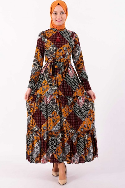 Robadan Yazlık Boydan Elbise