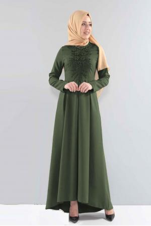 Uzun Haki Tesettür Abiye Elbise