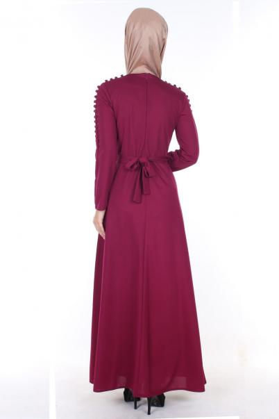 Elbise Mürdüm Düğmeli