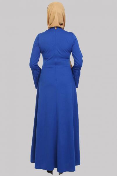 Elbise Püskül Detaylı Saks