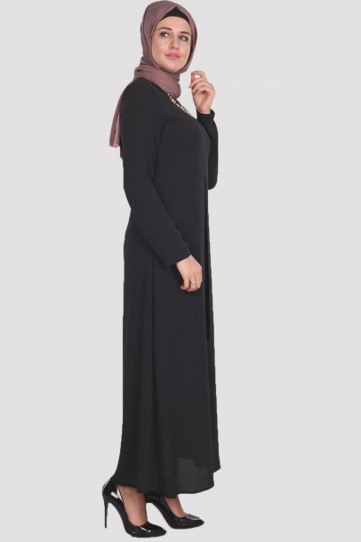 Elbise Açık Pile Siyah