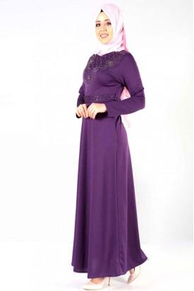 Elbise Mor Taş Detaylı