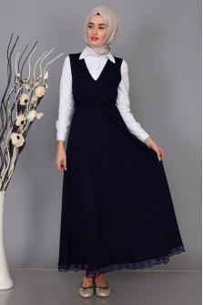 16e712bcb20b8 Tesettür Jile Elbise Modelleri ve Fiyatları