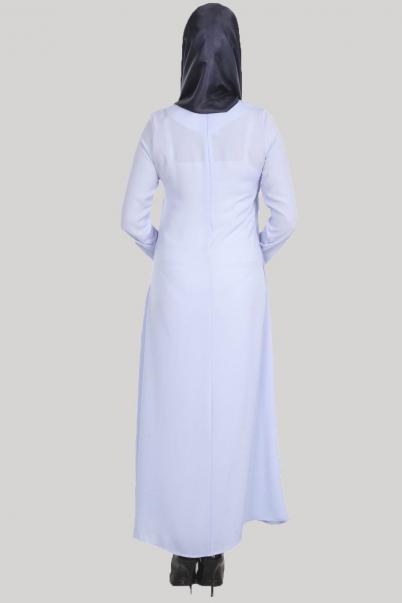 Elbise Acık Pile Mavi