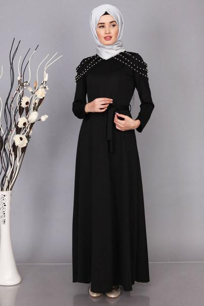 Elbise İnci Omzu Detaylı