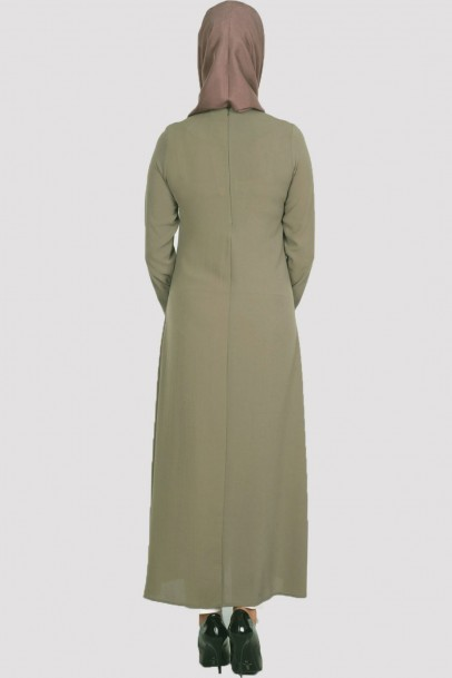 Elbise Acık Pile Haki