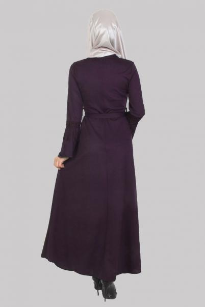 Elbise Mor Püskül Detaylı
