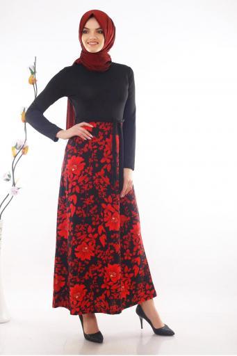 Elbise Eteği Çiçek Desenli