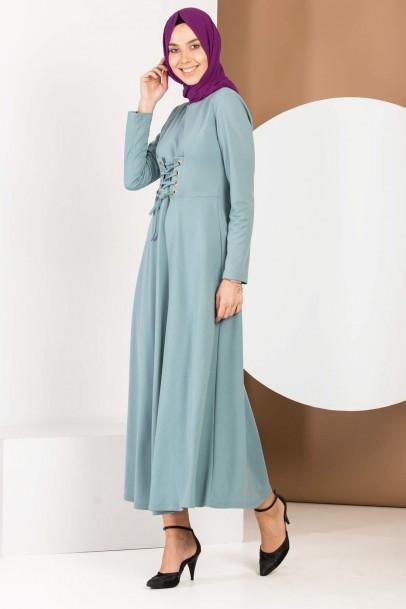 Elbise Mint Yeşili Bağcıklı