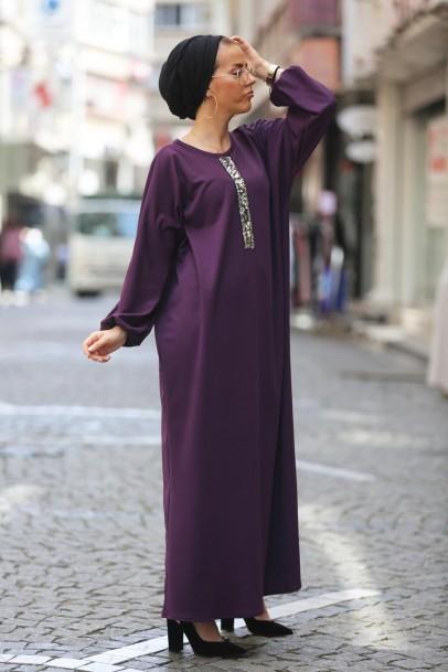 Ferace Elbise Mor