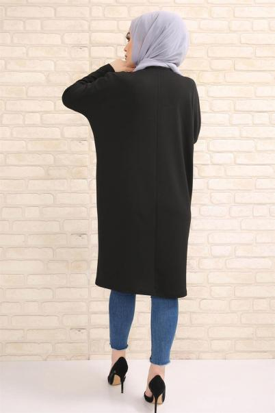 Siyah Tunik pul payetli