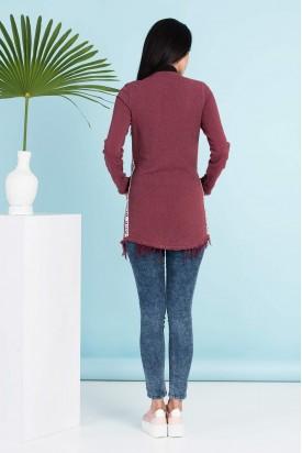 Trenç Tunik Ceket Fermuarlı