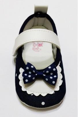 Bebek Patik Fiyonk Desenli Ayakkabı