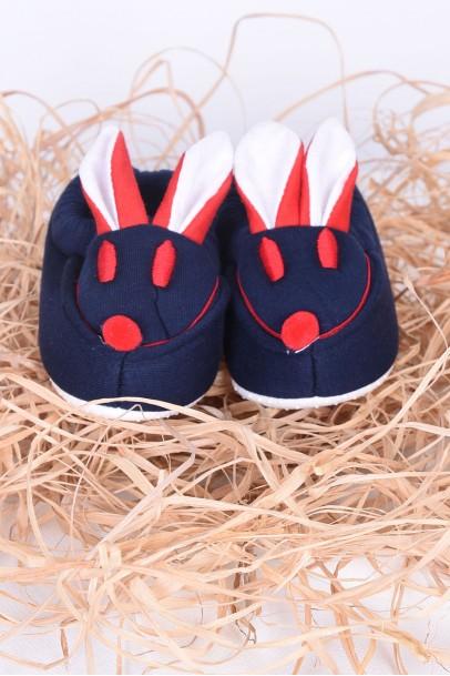 Bebek Patik Tavşan Desenli Kulaklı Ayakkabı