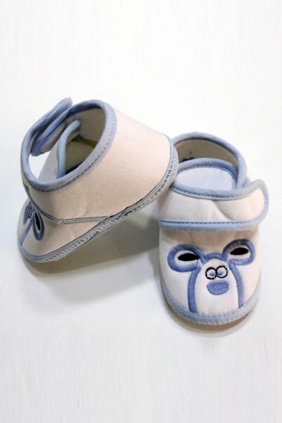 Çocuk Ayakkabısı Patik Beyaz Mavi