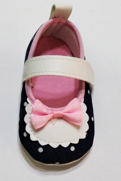 Fiyonk Desenli Bebek Patik Ayakkabı