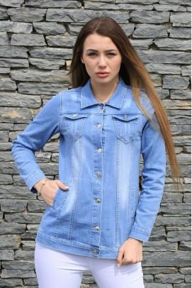 Bayan Tarz Mavi Kot Ceket