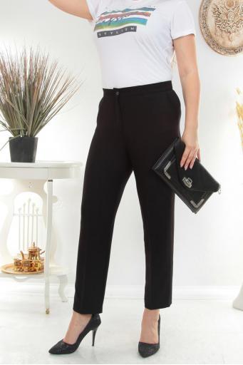 Bayan Pantolon Kumaş Battal Beden Siyah