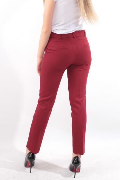 Bordo Kadın Bilek boy Pantolon