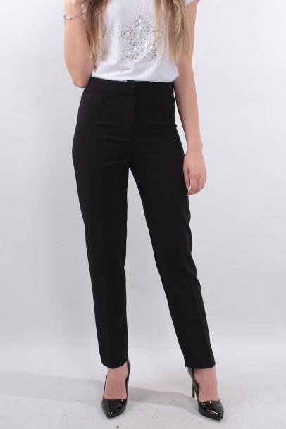 Siyah Kadın Bilek boy Pantolon