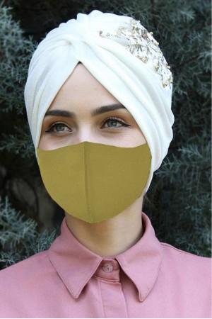 Yıkanabilir Bez Maskesi 5 Adet Sarı